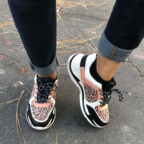 Qupid Shoes   Leopard Animal Print Lace